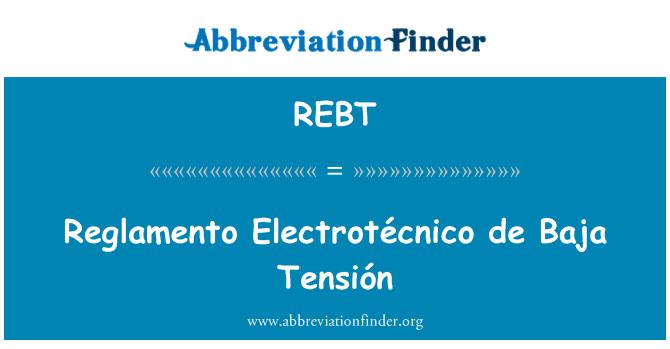 REBT: Tensión Reglamento Electrotécnico de Baja