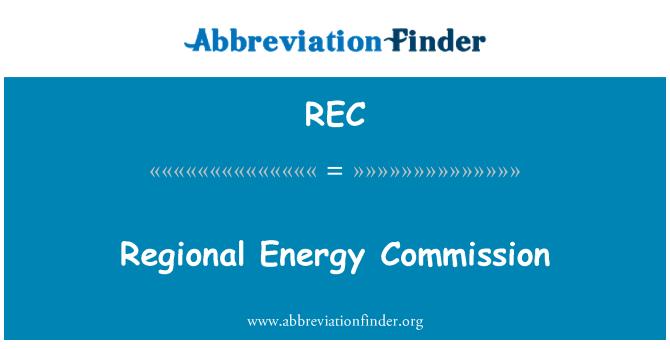 REC: Regional Energy Commission