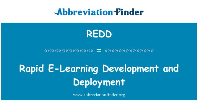 REDD: Kepesatan pembangunan E-pembelajaran dan penggunaan