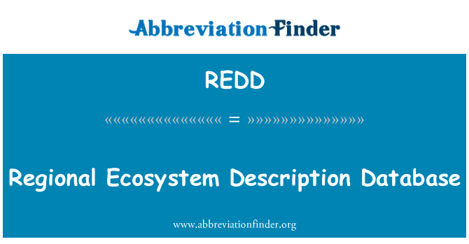 REDD: Pangkalan data keterangan ekosistem serantau
