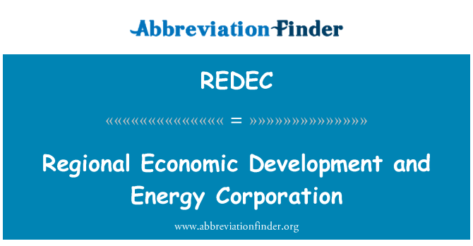 REDEC: التنمية الاقتصادية الإقليمية وشركة الطاقة