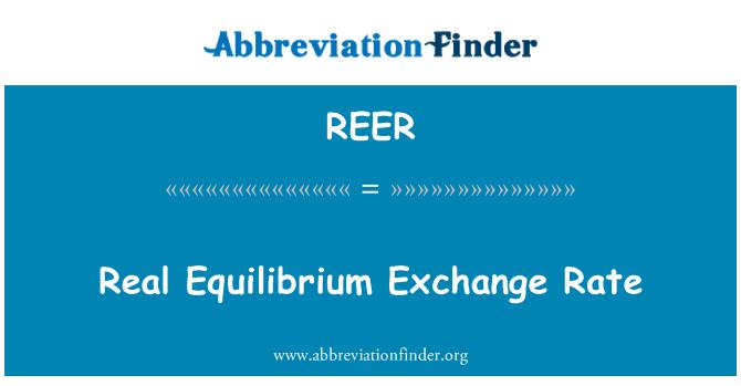 REER: Real Equilibrium Exchange Rate