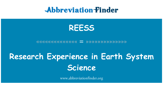 REESS: Research Experience in Earth System Science