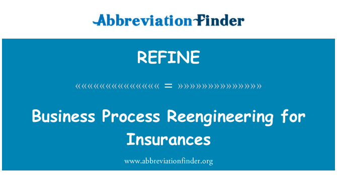REFINE: Business Process Reengineering for Insurances