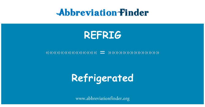 REFRIG: Buzdolabında