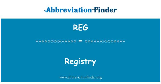 REG: Registry