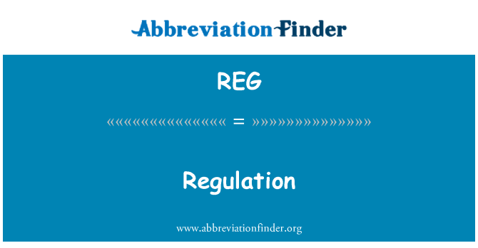 REG: Regulation