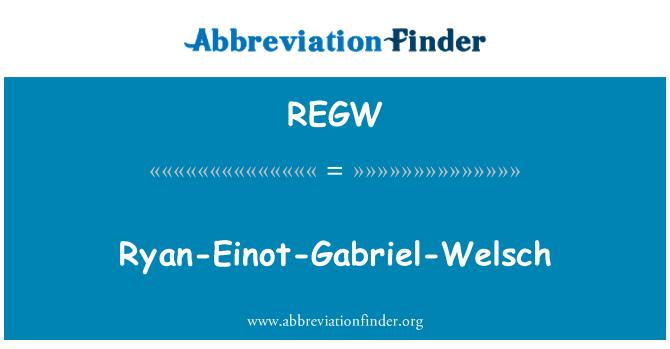REGW: Ryan-Einot-Gabriel-Welsch