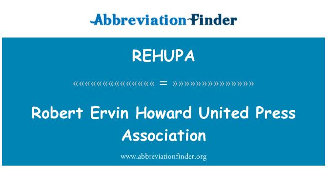 REHUPA: Robert Ervin Howard United Press Association