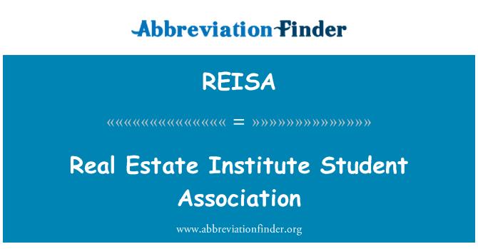 REISA: Real Estate Institute Student Association