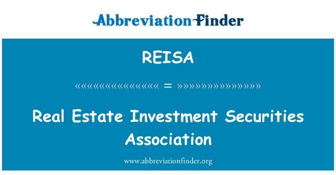 REISA: Real Estate Investment Securities Association