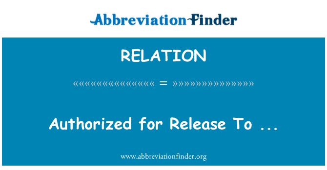RELATION: Autorizado para el lanzamiento de...