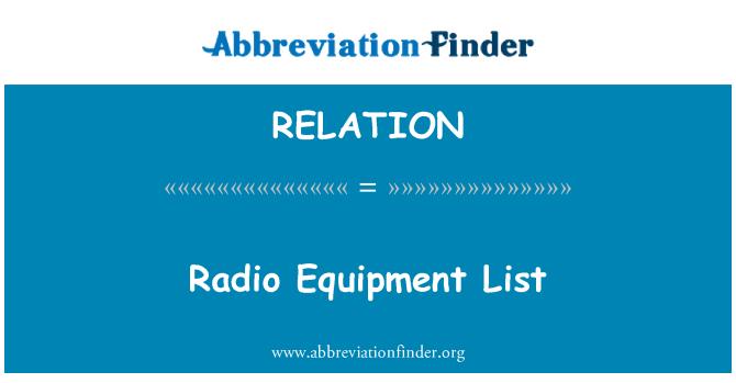 RELATION: Lista de equipos de radio