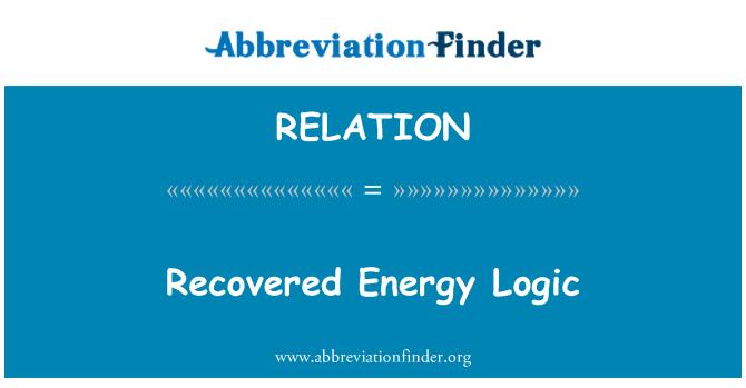 RELATION: Recovered Energy Logic
