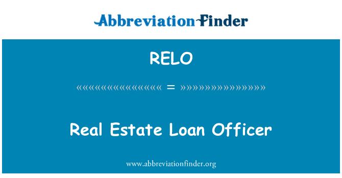RELO: Oficial de préstamos de bienes raíces
