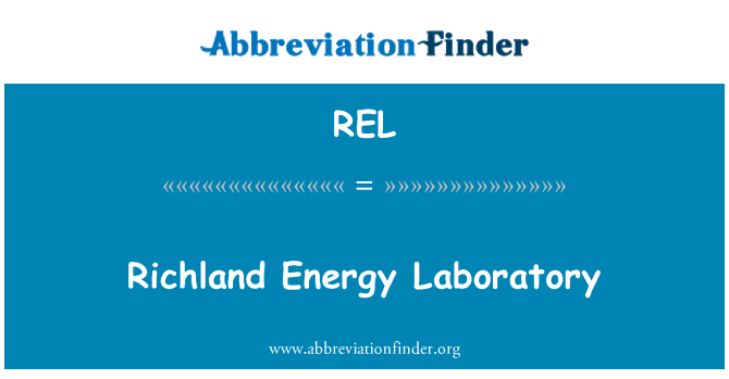 REL: Richland Energy Laboratory