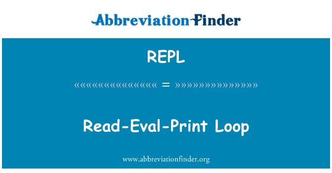 REPL: Okuma Eval baskı döngü