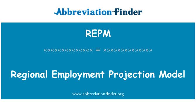 REPM: Regional Employment Projection Model