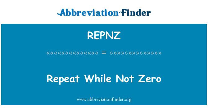 REPNZ: 重复而不为零