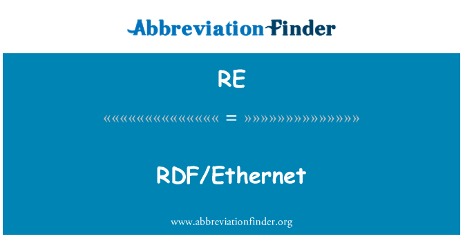 RE: RDF/Ethernet