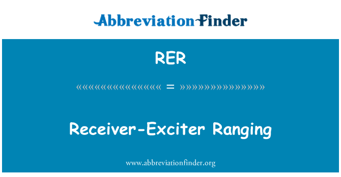 RER: Receiver-Exciter Ranging