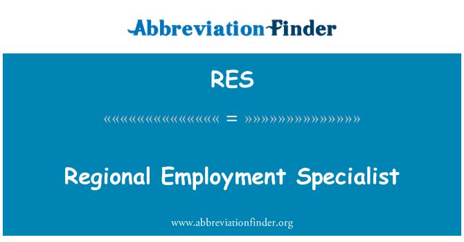 RES: Regional Employment Specialist