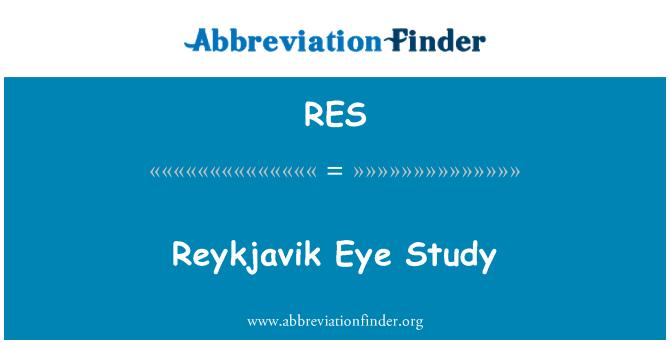 RES: Reykjavik Eye Study