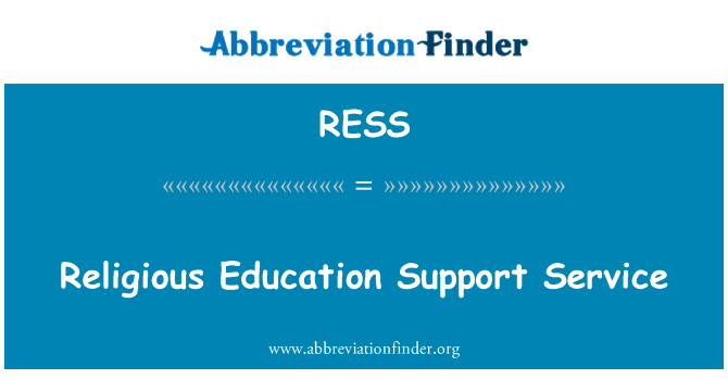 RESS: Religious Education Support Service