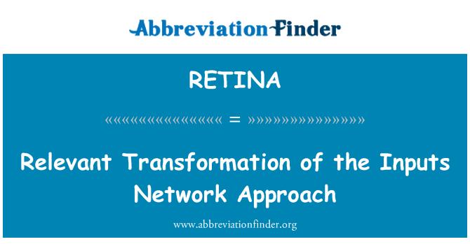 RETINA: آدانوں نیٹ ورک اندازِ فکر کا متعلقہ استحالہ