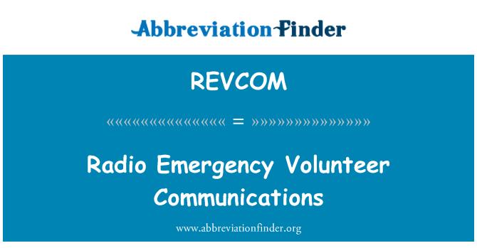 REVCOM: Radyo Acil gönüllü iletişim