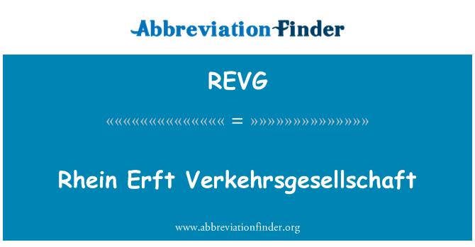REVG: Rhein Erft Verkehrsgesellschaft