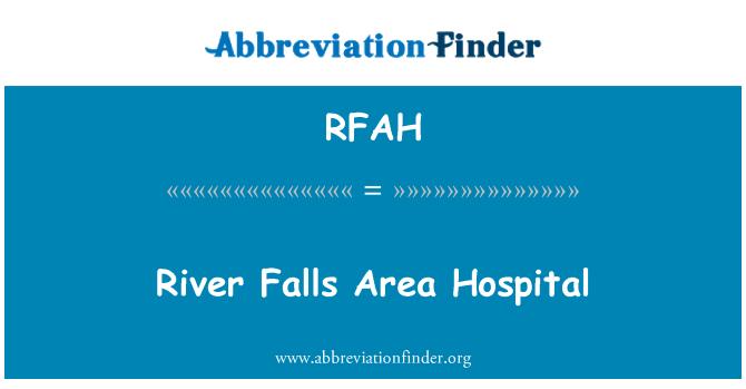 RFAH: River Falls prostor bolnice
