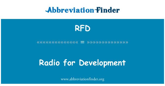 RFD: Radio for Development