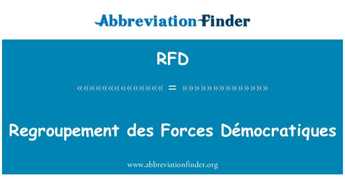 RFD: Regroupement des Forces Démocratiques