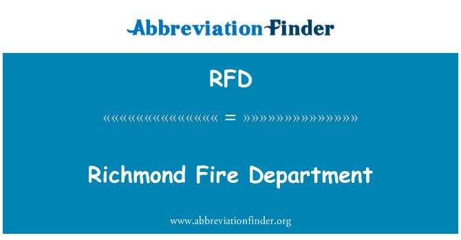 RFD: Richmond Fire Department