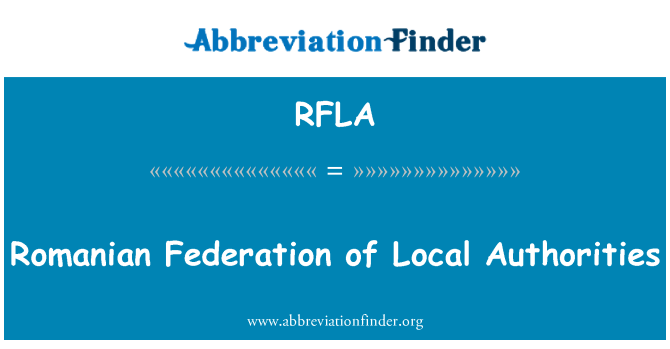 RFLA: Romanian Federation of Local Authorities