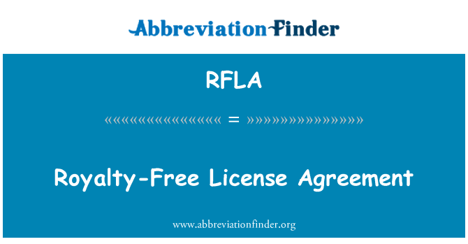 RFLA: Royalty-Free License Agreement