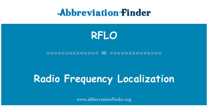 RFLO: Rádiové frekvence lokalizace