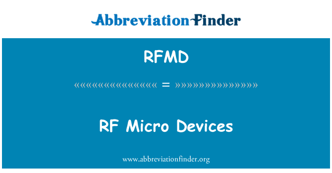 RFMD: RF Micro Devices