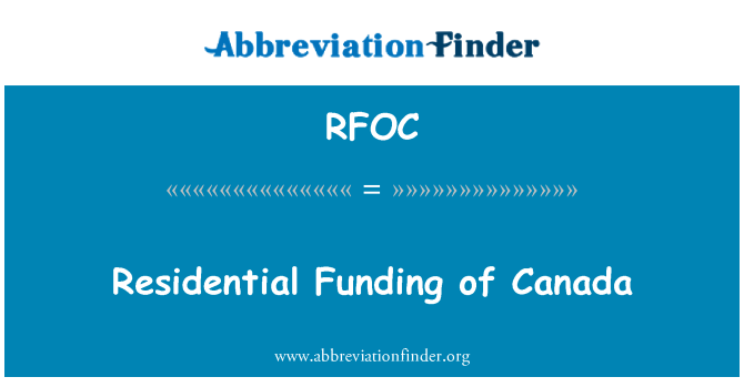RFOC: Residential Funding of Canada