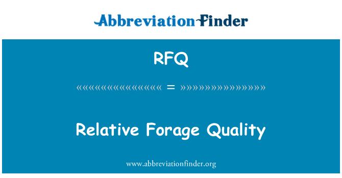 RFQ: Calidad del forraje relativa