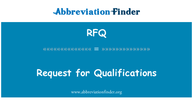 RFQ: Solicitud de calificaciones