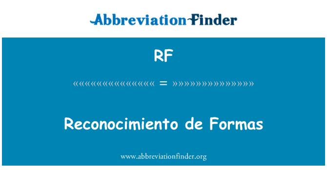 RF: Reconocimiento de Formas