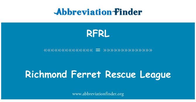 RFRL: Richmond Ferret Rescue League