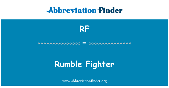 RF: Rumble Fighter