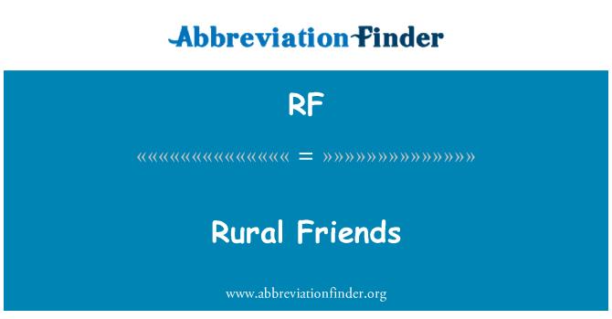 RF: Rural Friends