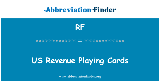 RF: US Revenue Playing Cards