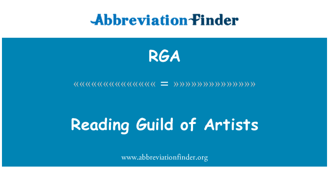 RGA: Reading Guild of Artists