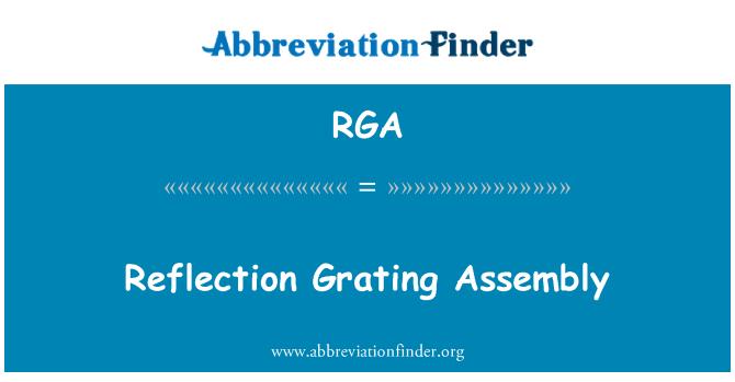 RGA: Reflection Grating Assembly