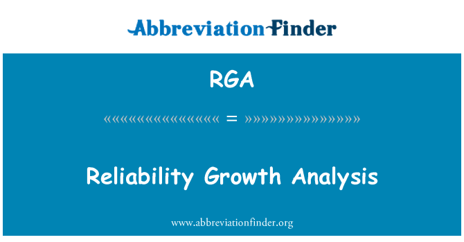RGA: Reliability Growth Analysis